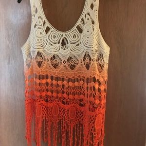 Tops - Beautiful lace type tank